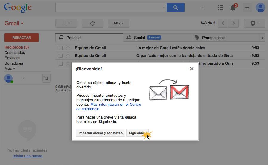 Bandeja de entrad Gmail